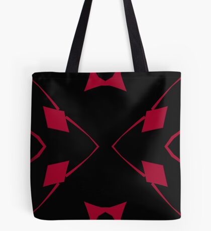 Red and Black Design 2 by Julie Everhart Tote Bag