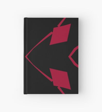 Red and Black Design 2 by Julie Everhart Hardcover Journal