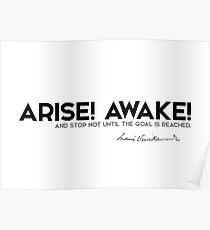 arise! awake! - swami vivekananda Poster