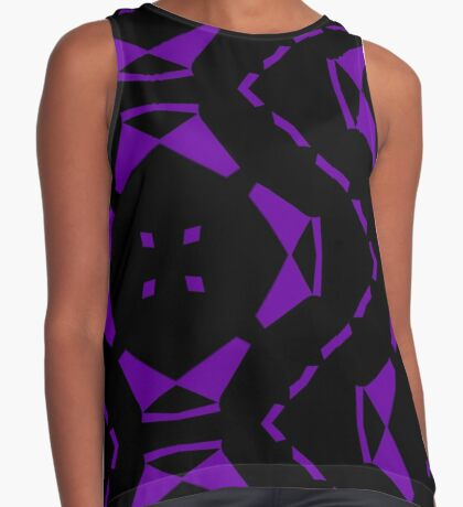 Purple and Black by Julie Everhart Sleeveless Top