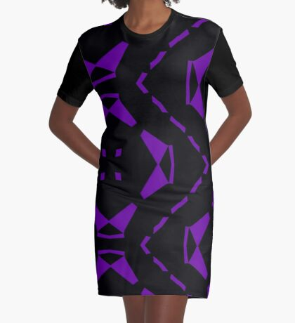 Purple and Black by Julie Everhart Graphic T-Shirt Dress