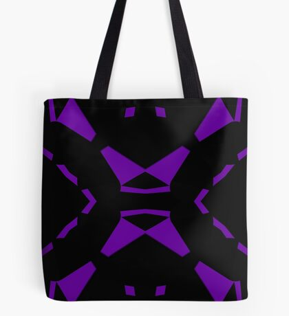 Purple and Black by Julie Everhart Tote Bag
