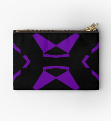Purple and Black by Julie Everhart Zipper Pouch