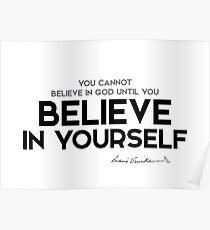 believe in yourself - swami vivekananda Poster