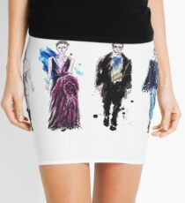 Fashion Catwalk Illustration Mini Skirt