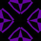 Purple and Black Design 2 by Julie Everhart by Julie Everhart