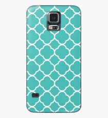 Teal Quatrefoil Case/Skin for Samsung Galaxy