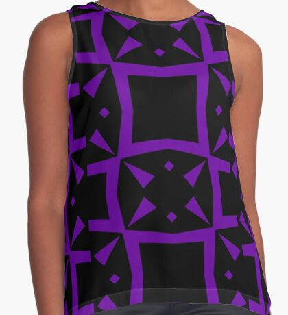 Black and Purple Design 3 by Julie  Everhart Sleeveless Top
