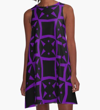 Black and Purple Design 3 by Julie  Everhart A-Line Dress