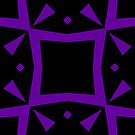 Black and Purple Design 3 by Julie  Everhart by Julie Everhart