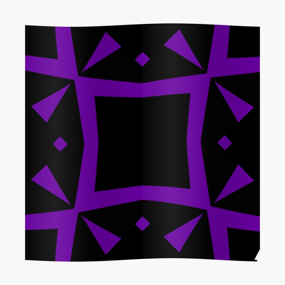 Black and Purple Design 3 by Julie  Everhart Poster