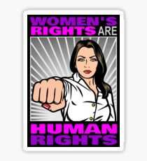 Women's Rights Are Human Rights - feminism Sticker