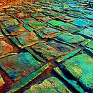 Square Stones Pathway Number 42 by Mike Solomonson