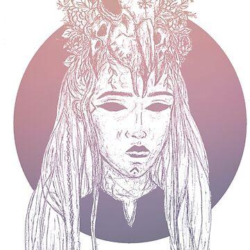 Viking Lady Skull Crown by BGauntlett