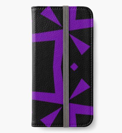 Black and Purple Design 3 by Julie  Everhart iPhone Wallet