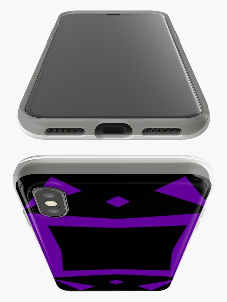 Alternate view of Black and Purple Design 3 by Julie  Everhart iPhone Cases & Covers