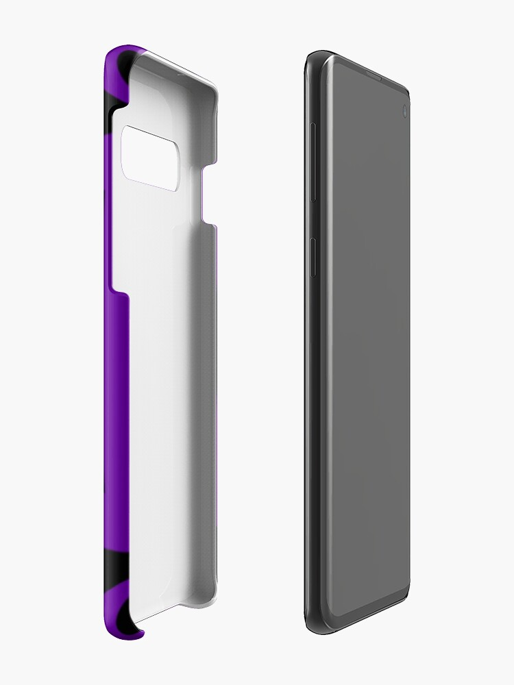 Alternate view of Black and Purple Design 3 by Julie  Everhart Case & Skin for Samsung Galaxy