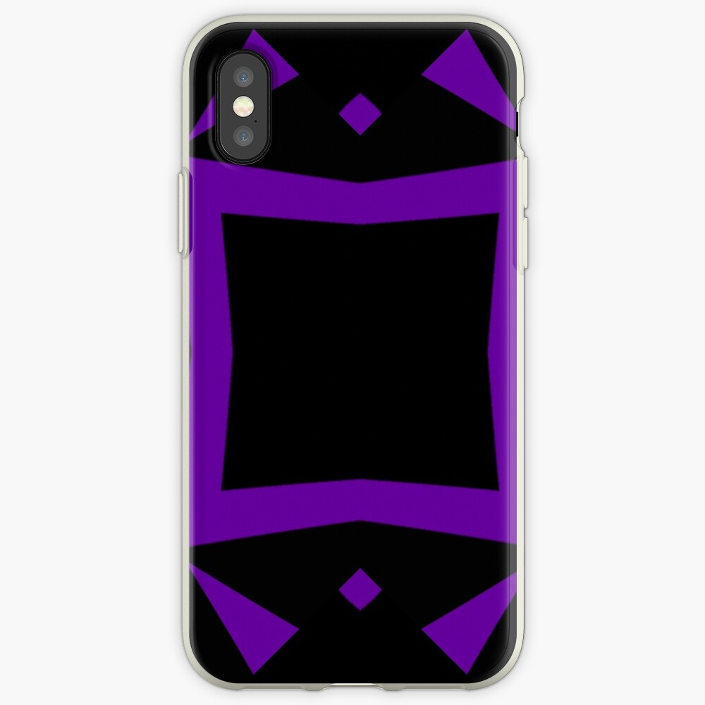 Black and Purple Design 3 by Julie  Everhart iPhone Cases & Covers