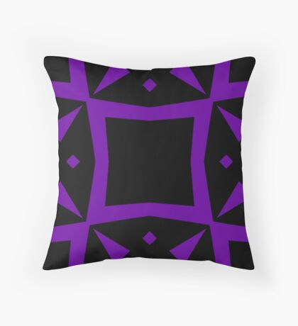 Black and Purple Design 3 by Julie  Everhart Throw Pillow