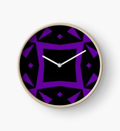 Black and Purple Design 3 by Julie  Everhart Clock