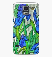 Blue Iris and Bee Case/Skin for Samsung Galaxy
