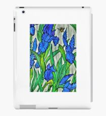 Blue Iris and Bee iPad Case/Skin