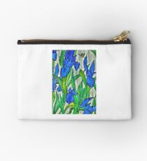 Blue Iris and Bee Studio Pouch