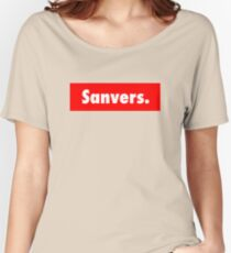 Sanvers Fashion Print Women's Relaxed Fit T-Shirt