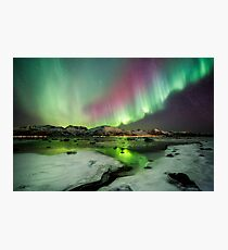 Ice and the Northern Lights Photographic Print