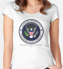 Josiah Bartlet Presidential Library Logo Women's Fitted Scoop T-Shirt