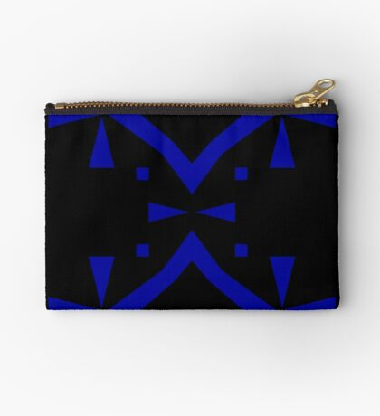 Black and Blue by Julie Everhart Zipper Pouch