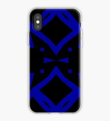 Black and Blue by Julie Everhart iPhone Case