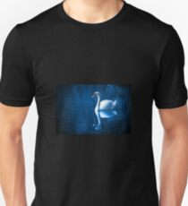 Swan on blue water  T-Shirt