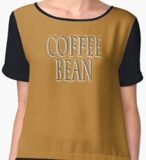 COFFEE, Coffee Bean, Caffeine, Wake up & smell the coffee! Chiffon Top