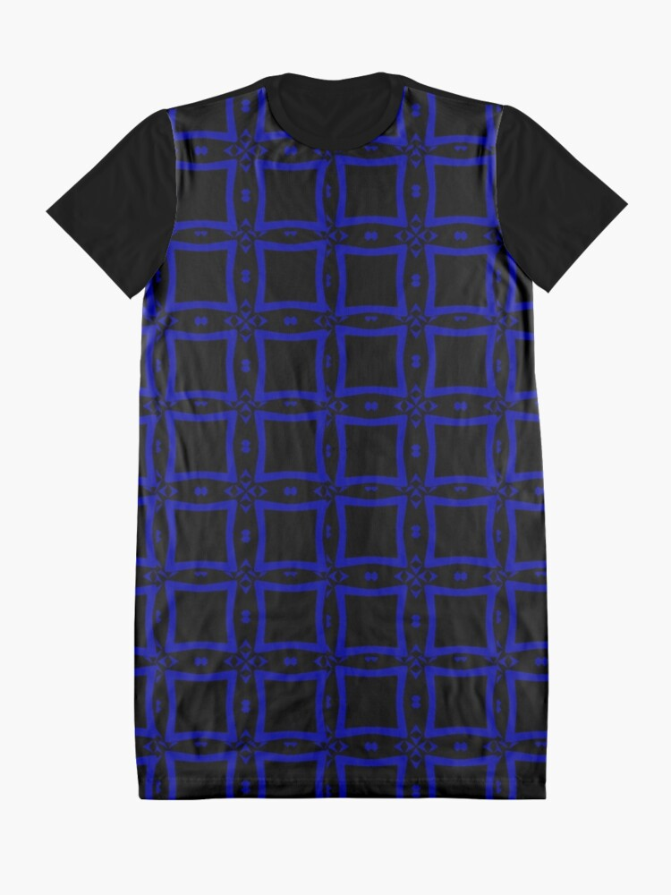 Alternate view of Black  and Blue 2 by Julie Everhart Graphic T-Shirt Dress