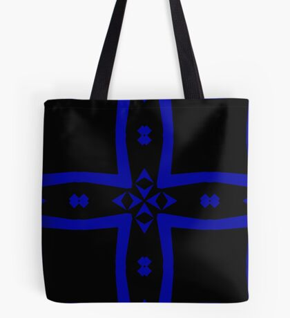 Black  and Blue 2 by Julie Everhart Tote Bag