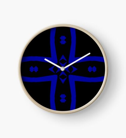 Black  and Blue 2 by Julie Everhart Clock