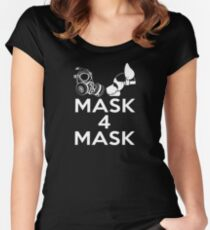 Mask 4 Mask Women's Fitted Scoop T-Shirt
