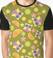 Owl and Citrus Graphic T-Shirt