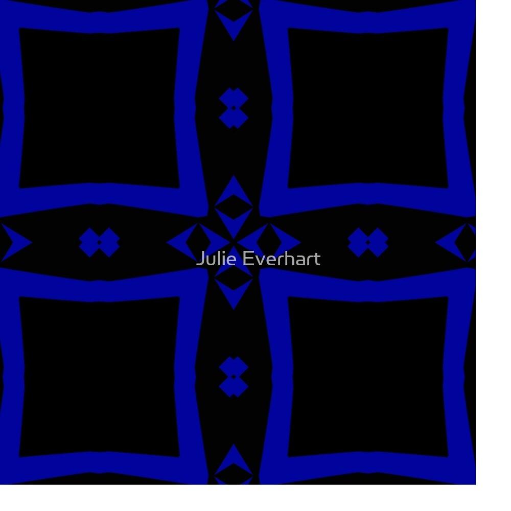 Black  and Blue 2 by Julie Everhart by Julie Everhart