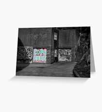 Cops Amor Grafiti Greeting Card