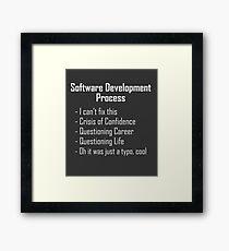 Software Development Humour Design Framed Print