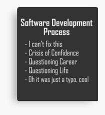 Software Development Humour Design Canvas Print
