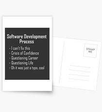 Postales Desarrollo de software, diseño de humor