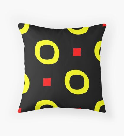 Red and Yellow by Julie Everhart Throw Pillow