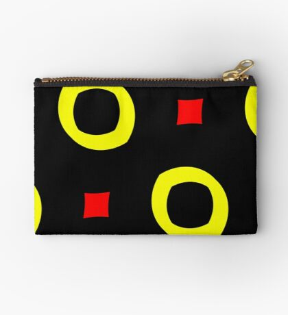 Red and Yellow by Julie Everhart Zipper Pouch
