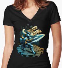 Steel Thy Shovel! Women's Fitted V-Neck T-Shirt