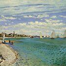 Regatta bei Sainte-Adresse von Monet von GalleryGreats