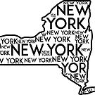 NEW YORK STATE TYPOGRAPHY ALBANY CITY BUFFALO MANHATTAN BRONX by MyHandmadeSigns