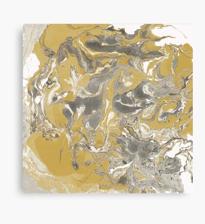 Brown and gray marble texture. Canvas Print